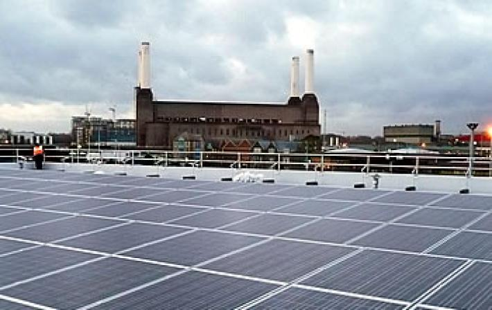 Photo of power station taken from roof of building opposite